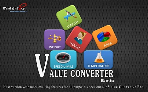 Value Converter BASIC - screenshot thumbnail
