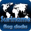 Suriname flag clocks icon