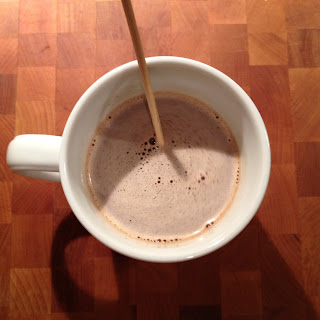 """Tingling"" Truffle Hot Chocolate."
