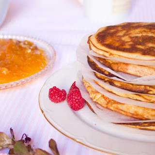 Pancakes with Orange Marmalade and Walnuts.