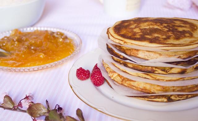 Pancakes with Orange Marmalade and Walnuts Recipe