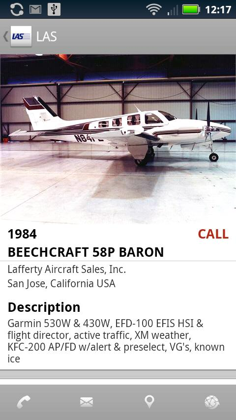 Jim Lafferty Aircraft Sales - screenshot