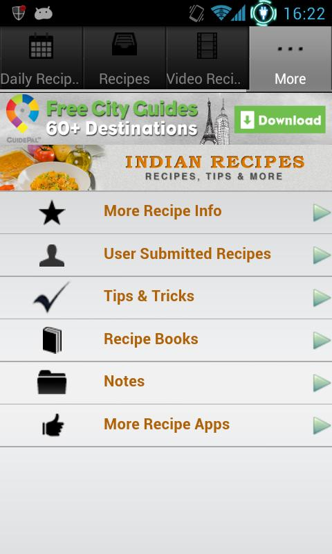Indian Recipes! - screenshot