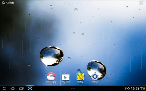 雨在玻璃上动态壁纸