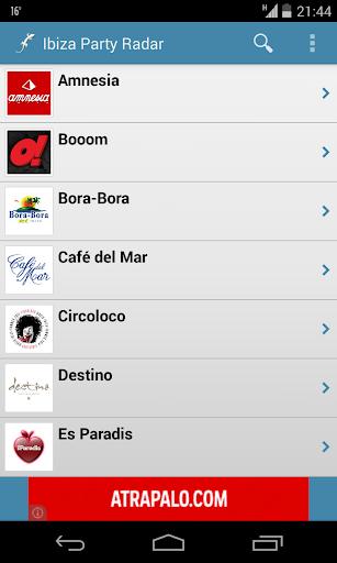 Ibiza Party Radar