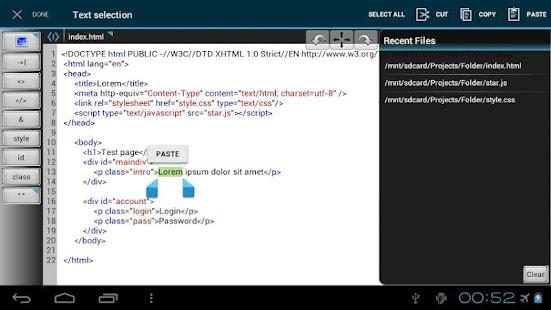 WebMaster's HTML Editor Lite- screenshot thumbnail