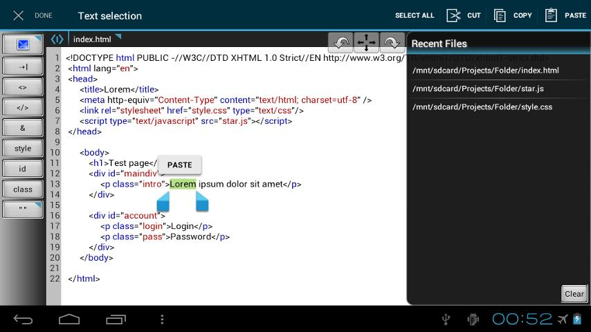 WebMaster's HTML Editor Lite- screenshot