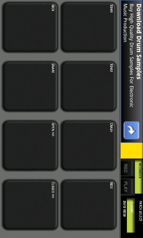 Drummer Multi touch - screenshot