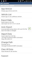 Screenshot of MPG Calculator: Fuel Logging