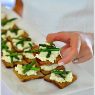 Asparagus + Fresh Ricotta Crostini