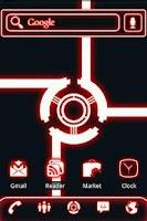 Screenshot of ADW Theme Glow Legacy Red Pro