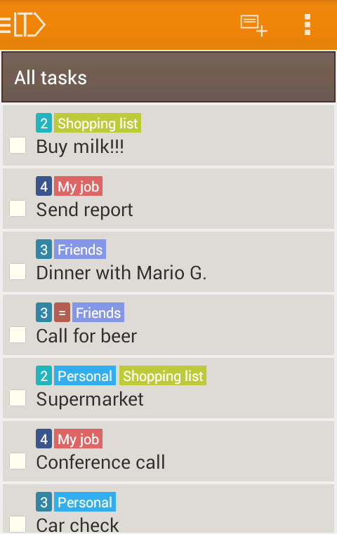LabelToDo Todo lists and more - screenshot