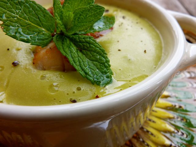 Creamy Pea Soup with Mint