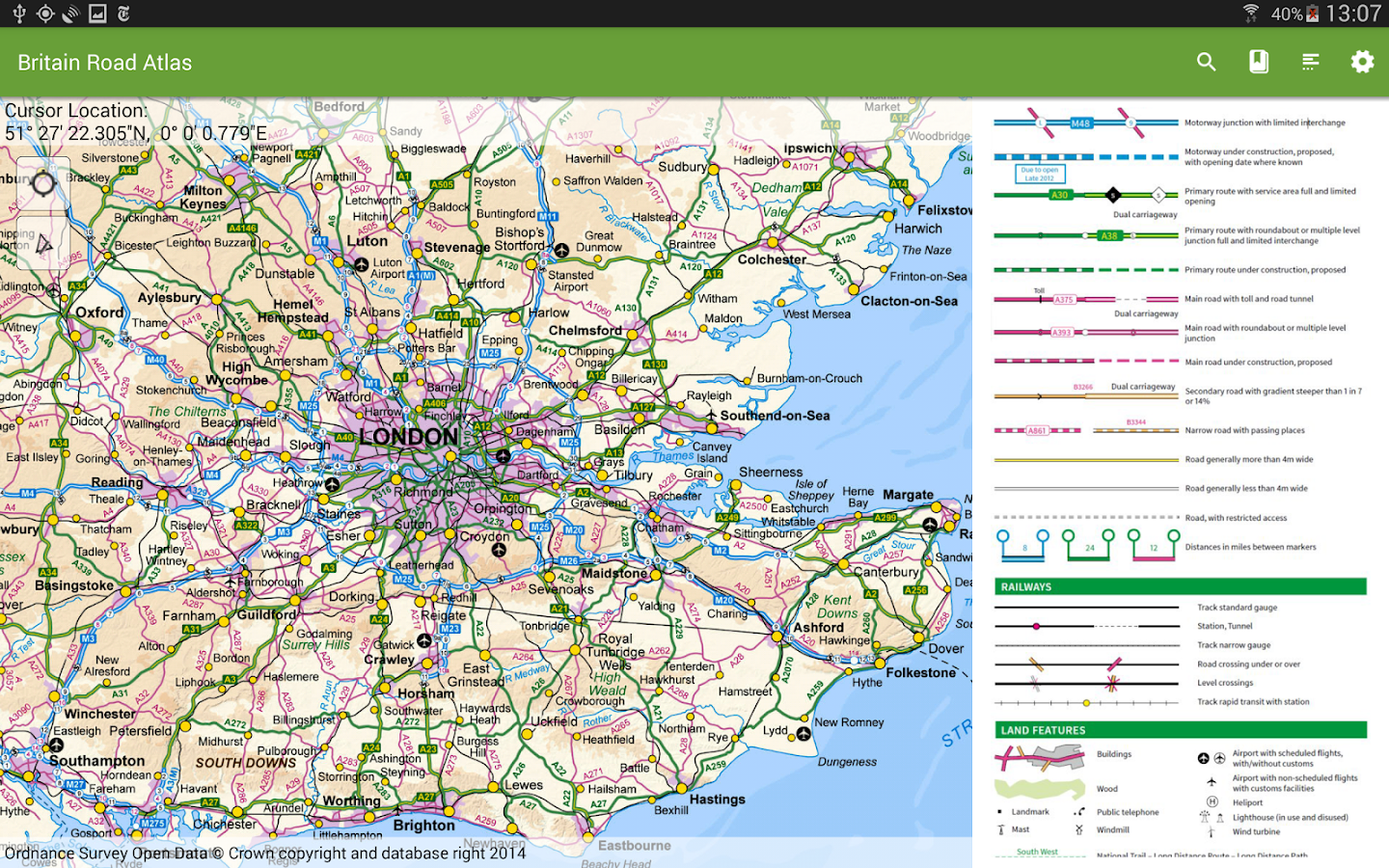 UK Offline Road Map OS Based Android Apps on Google Play – Map Uk Roads