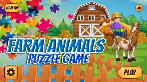 Farm Animals Puzzle For Kids