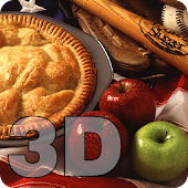 American Flag Apple Pie 3D LWP