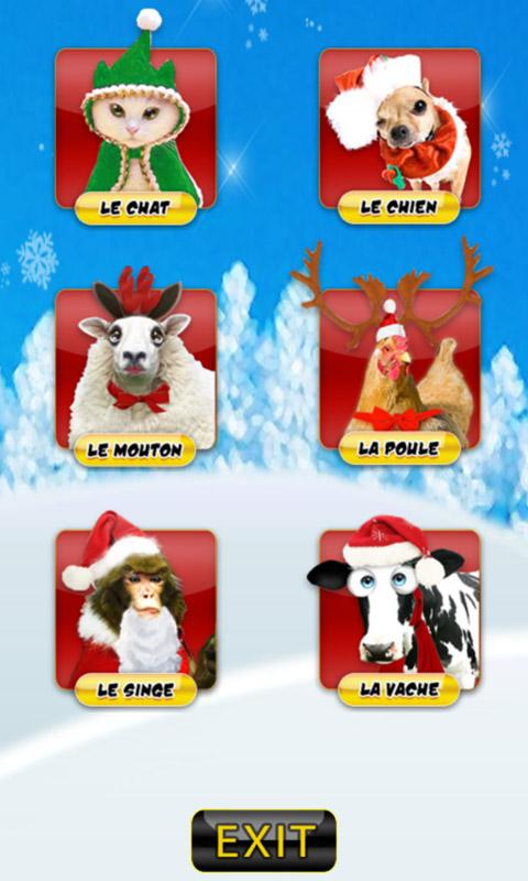 Application Christmas Zanimals - screenshot