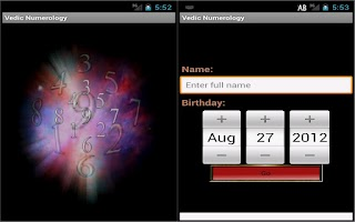 Screenshot of Vedic Numerology Lite