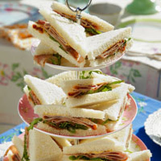 Ham Tea Sandwiches.
