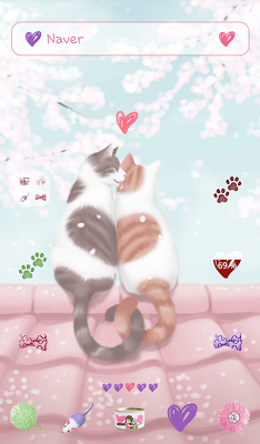 lovely girl cat couple dodol - screenshot