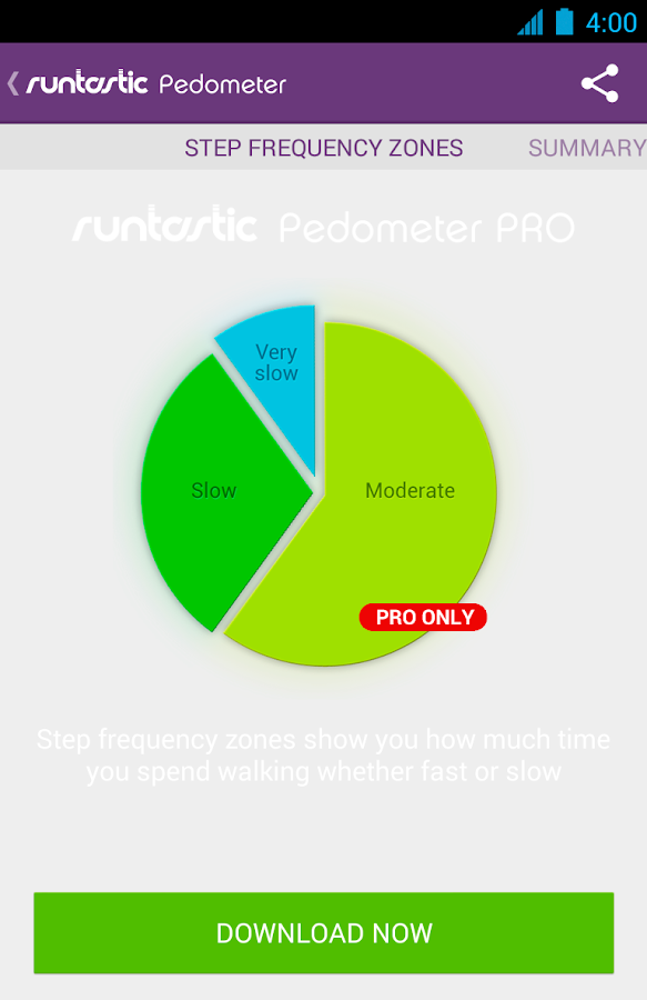 Runtastic Pedometer Step Count- screenshot