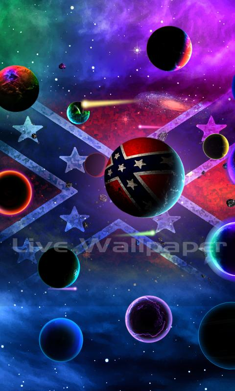 rebel flag planet beautiful harmonic rebel flag planet live wallpaper ...
