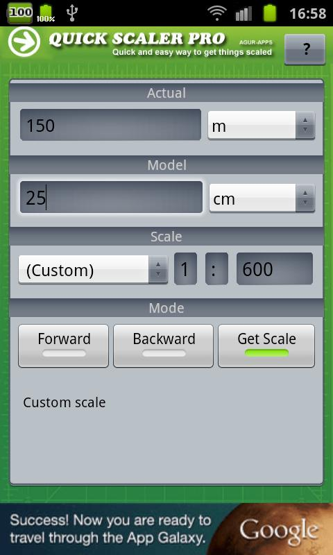 Hobby Model Scaler- screenshot