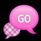 GO SMS - Lavender Plaid 3