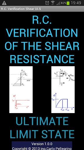 R.C.Verification Shear demo