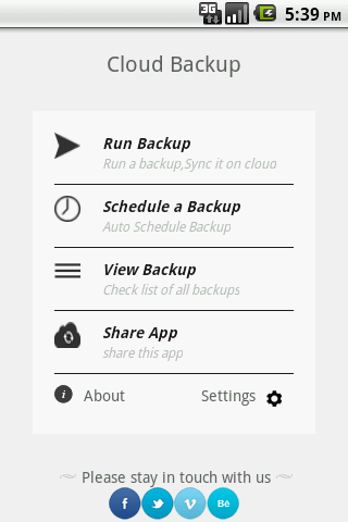 Cloud Backup & Restore - screenshot
