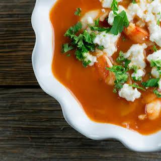 Shrimp Marinara Soup.