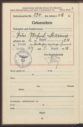 birth certificate peter google