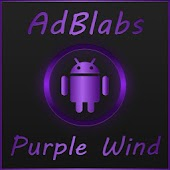 Next Launcher 3D Purple Wind