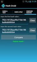 Screenshot of Hash Droid