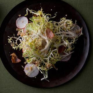 Frisée and Radish Salad with Hazelnut Dressing