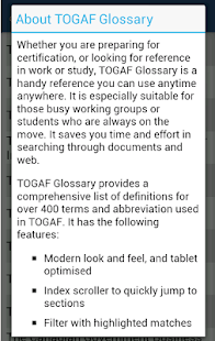 TOGAF Glossary- screenshot thumbnail