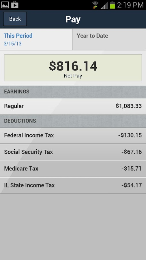 ADP Mobile Solutions- screenshot