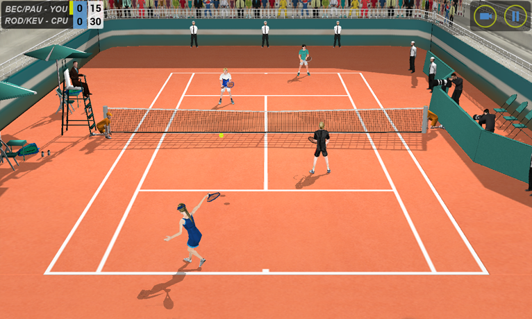 Flick Tennis- screenshot