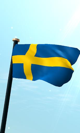 スウェーデンフラグ3Dライブ壁紙