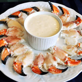 Stone Crab Claws with Mustard Dipping Sauce.
