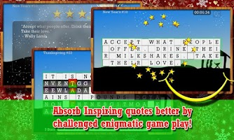 Screenshot of WORD PUZZLE for the HOLIDAY