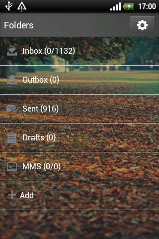 GO SMS PRO Nature Theme - screenshot