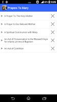Screenshot of Prayers to Mary