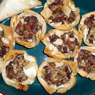 Chanterelle Mushroom and Bacon Tartlets.