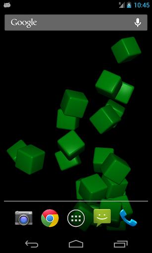 Bouncy 3D Cubes Live Wallpaper