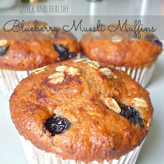 Whole Wheat Muesli Muffins With Blueberries