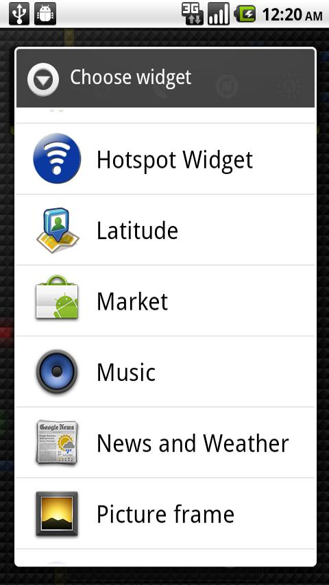 Hotspot Widget - screenshot