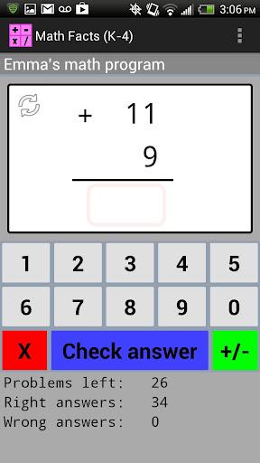 Math Facts K-4