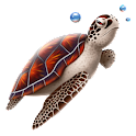3D Turtle cool sticker! logo