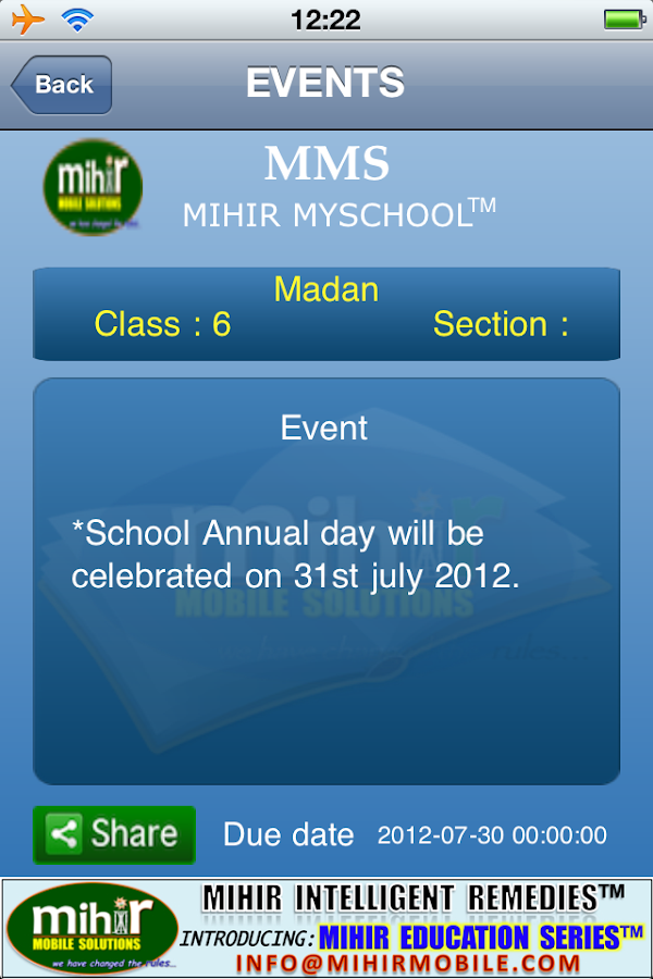 Mihir YourSchool™ - screenshot